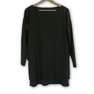ZARA high low black long sleeve top